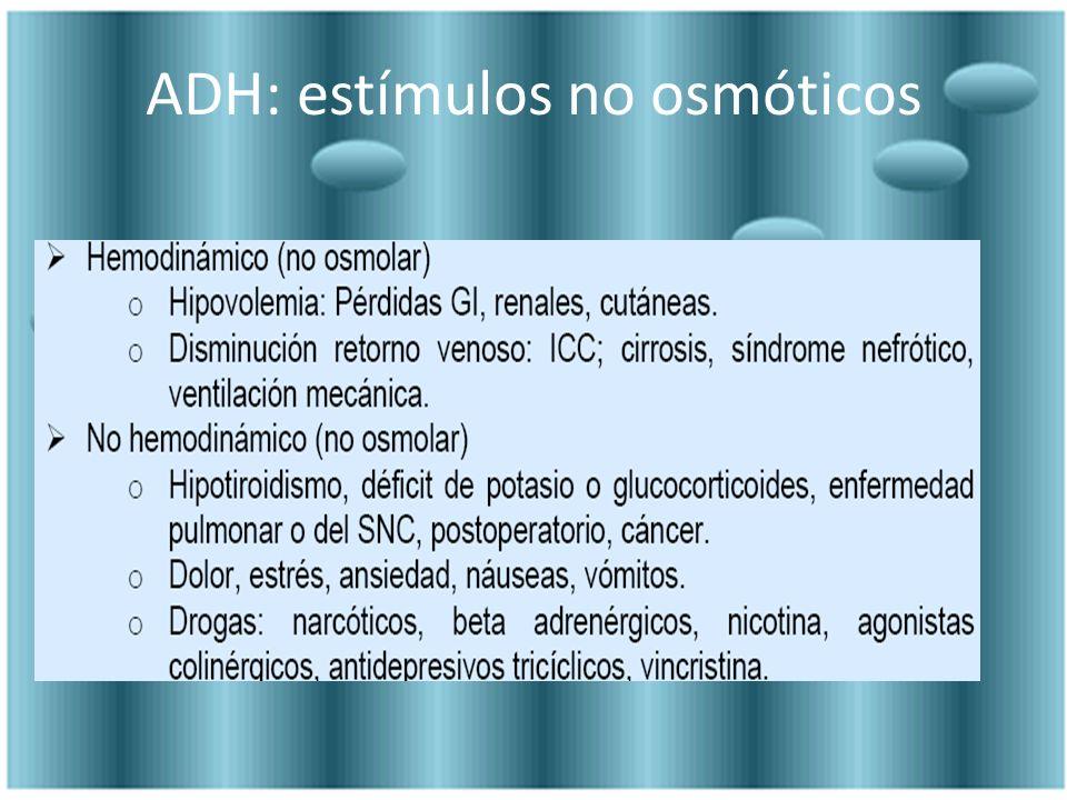 ADH: estímulos no osmóticos