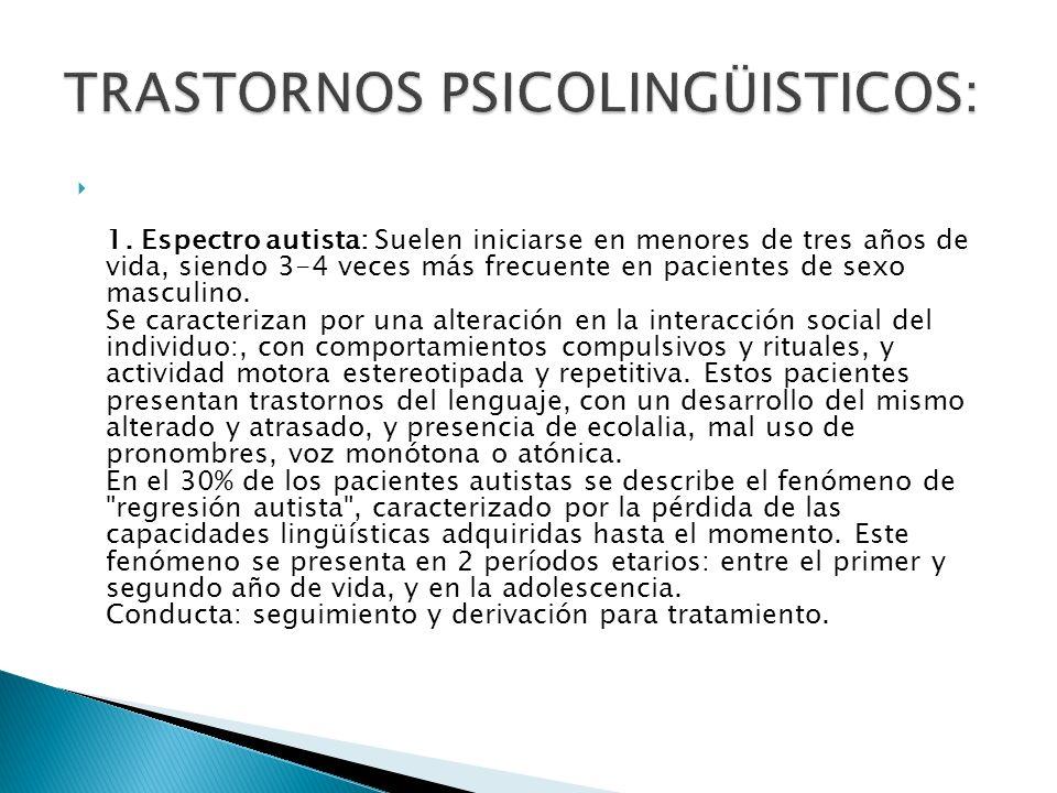TRASTORNOS PSICOLINGÜISTICOS: