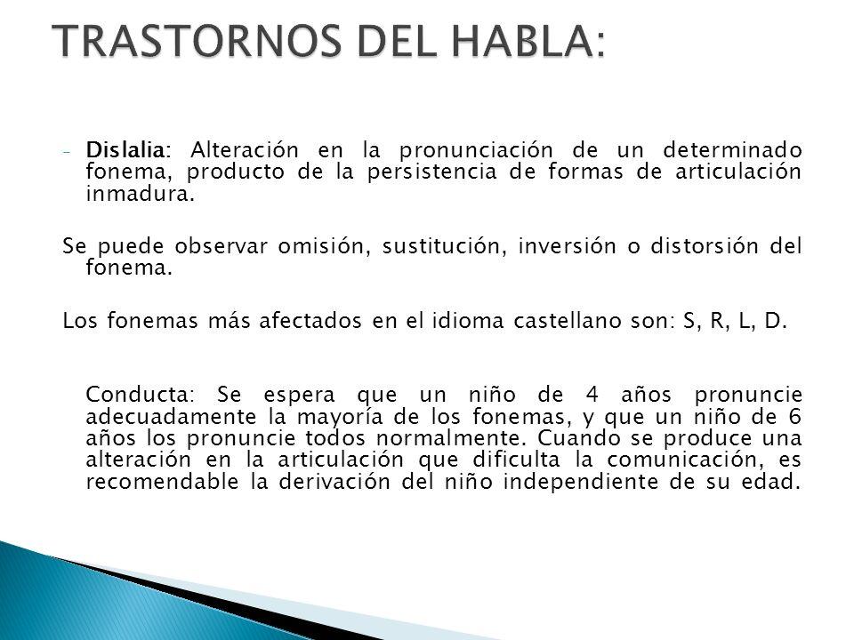 TRASTORNOS DEL HABLA: