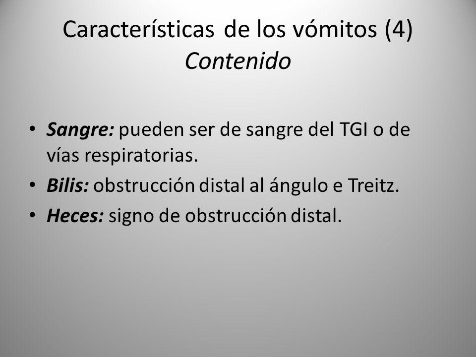 Características de los vómitos (4) Contenido