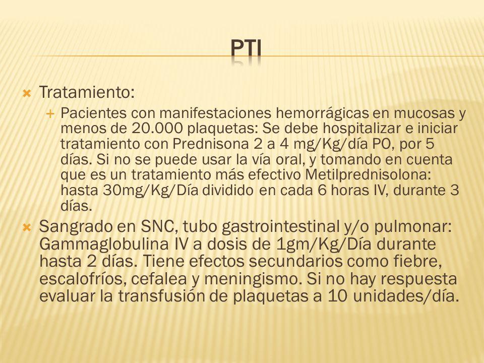 PTI Tratamiento:
