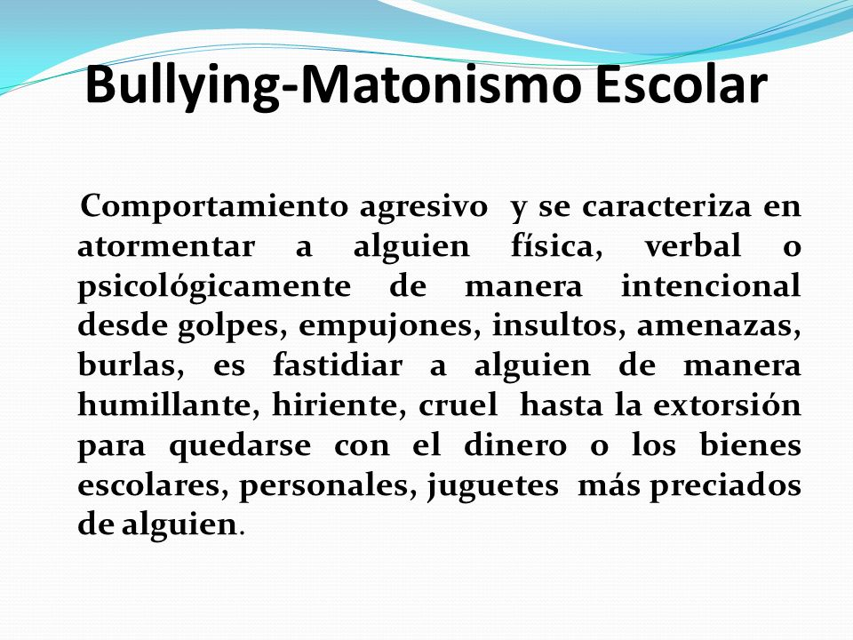 Bullying-Matonismo Escolar