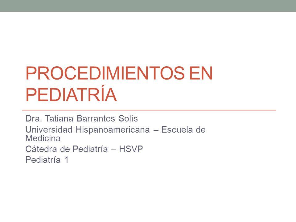 Procedimientos en pediatría