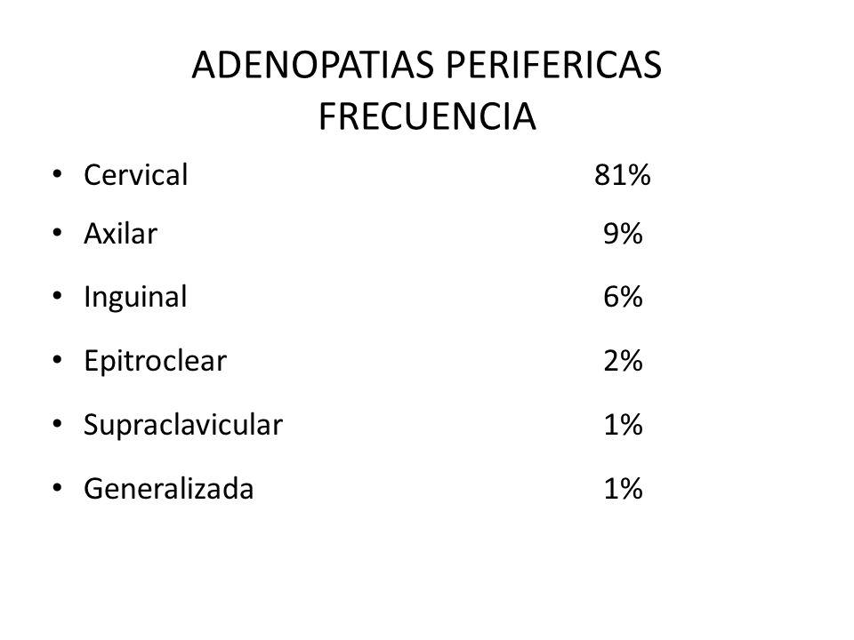 ADENOPATIAS PERIFERICAS FRECUENCIA