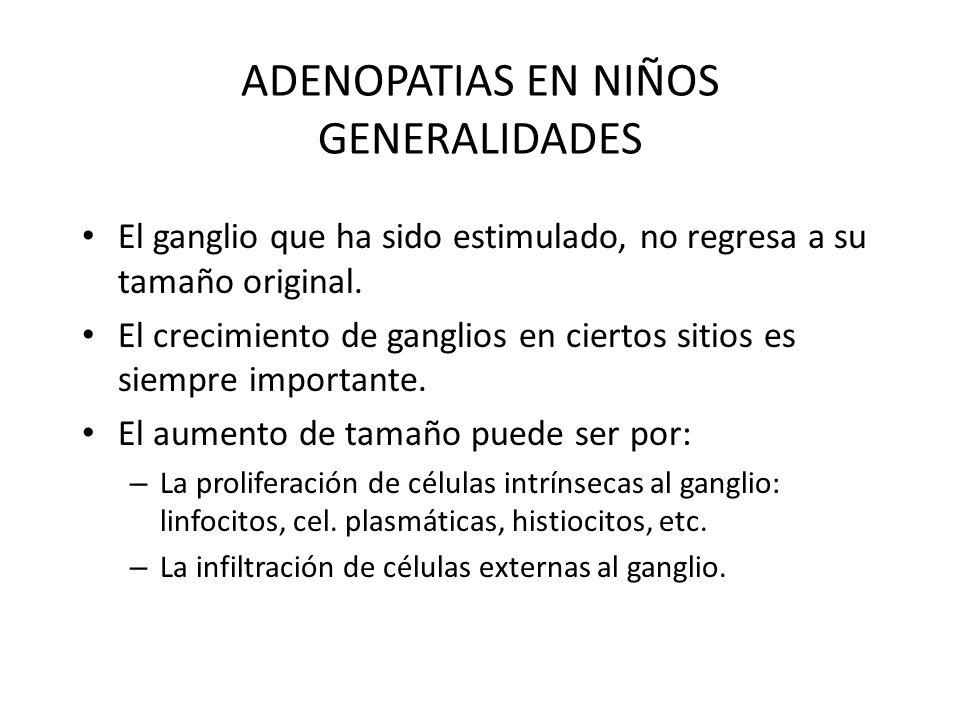ADENOPATIAS EN NIÑOS GENERALIDADES
