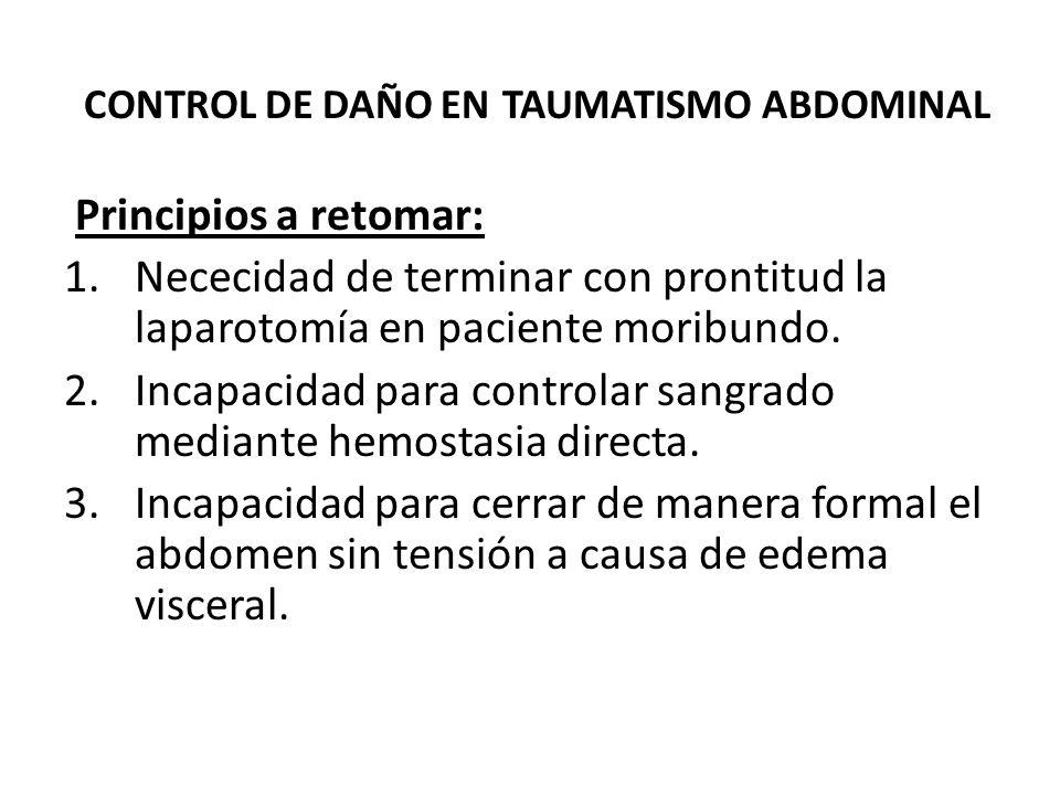 CONTROL DE DAÑO EN TAUMATISMO ABDOMINAL