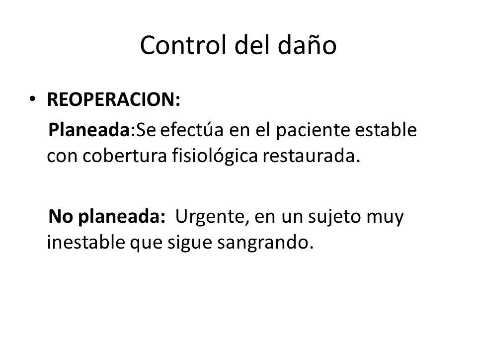 Control del daño REOPERACION: