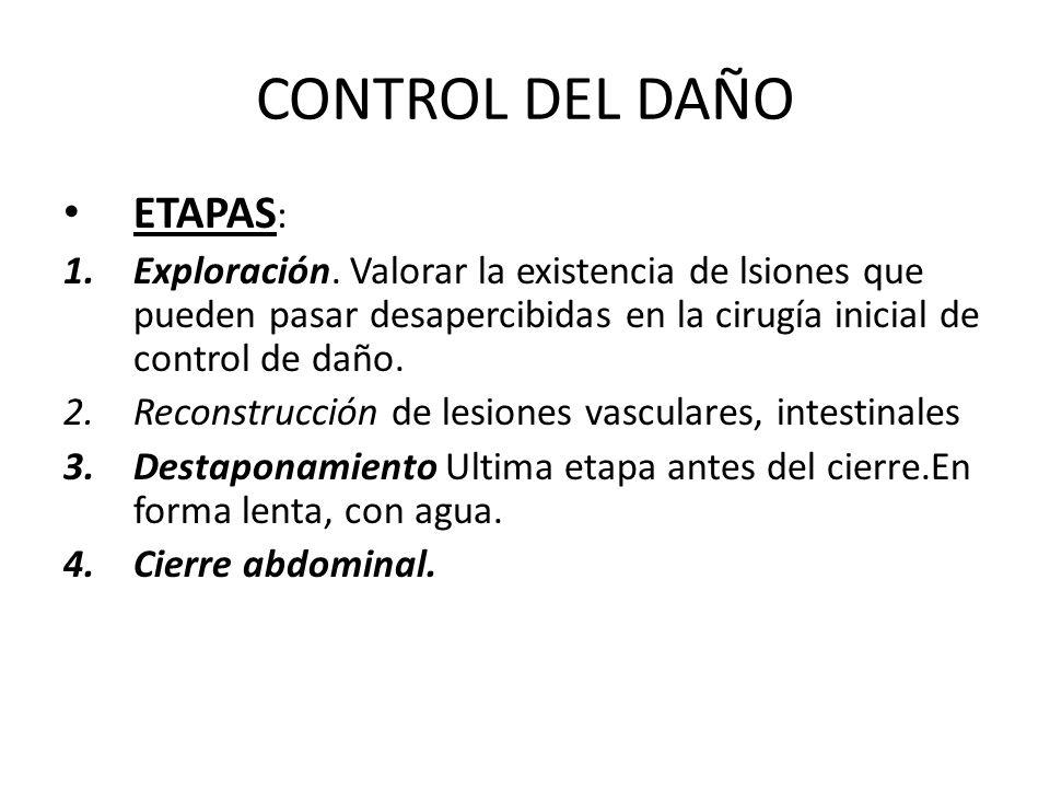 CONTROL DEL DAÑO ETAPAS: