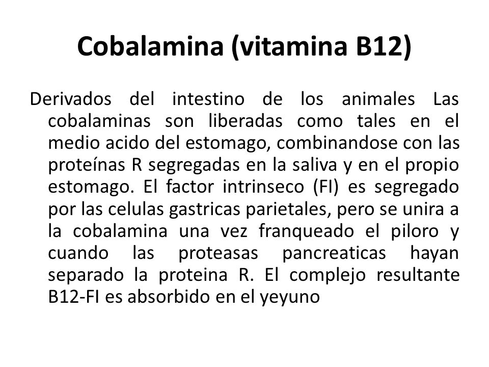 Cobalamina (vitamina B12)