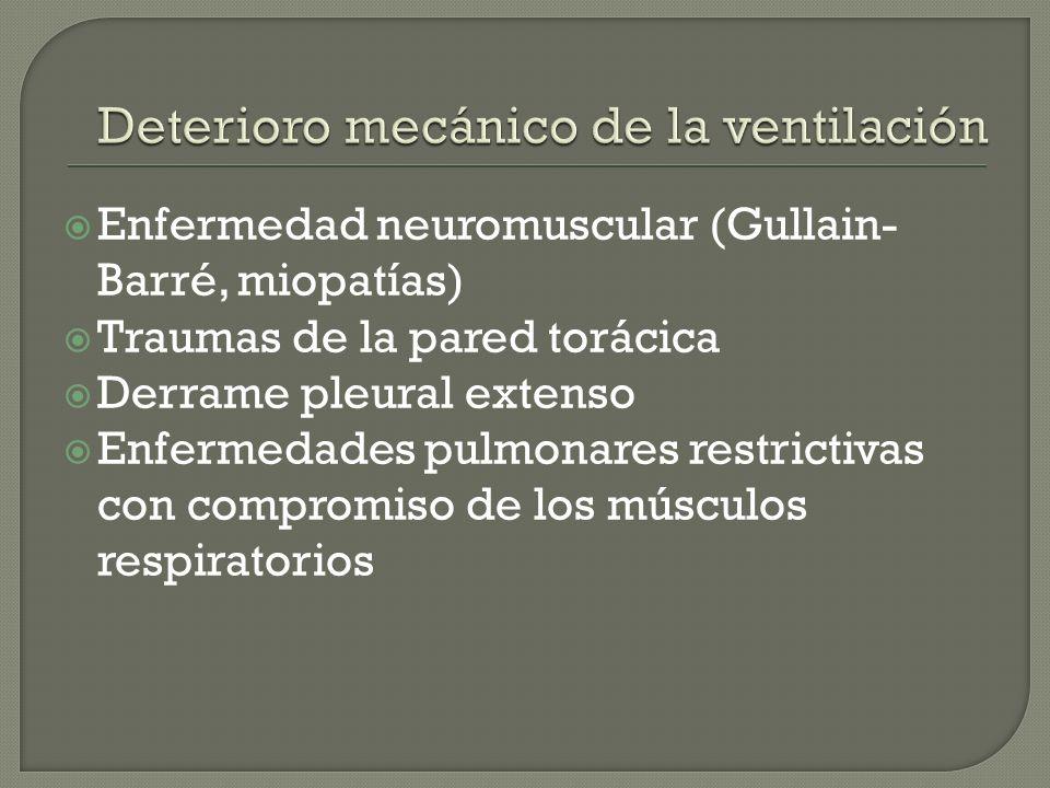 Deterioro mecánico de la ventilación