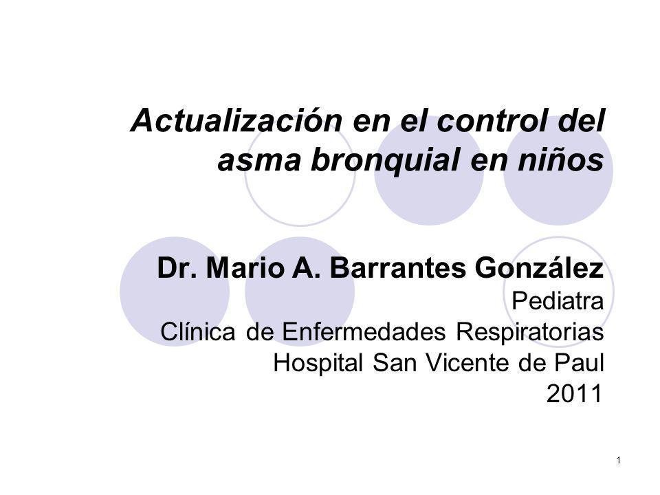 Actualización en el control del asma bronquial en niños