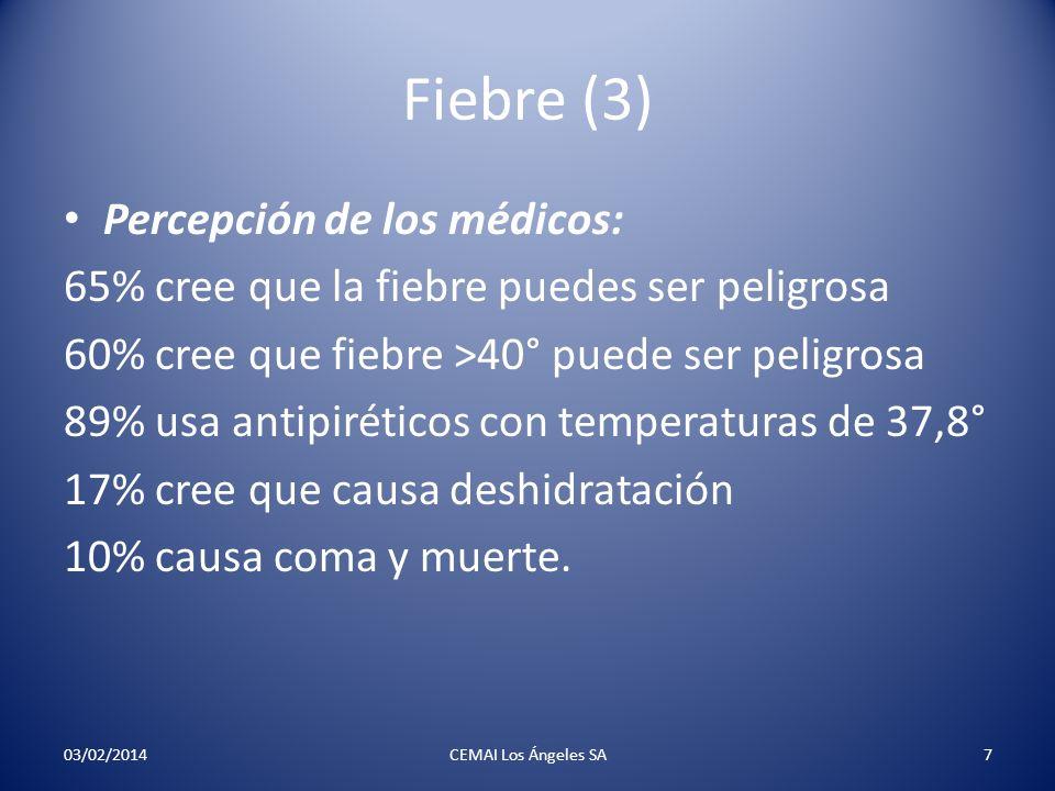Fiebre (3) Percepción de los médicos: