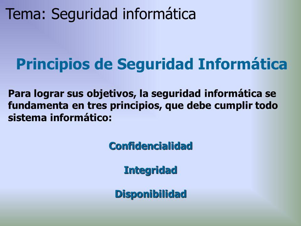 Principios de Seguridad Informática