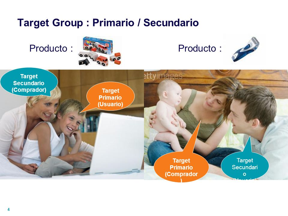 Target Group : Primario / Secundario