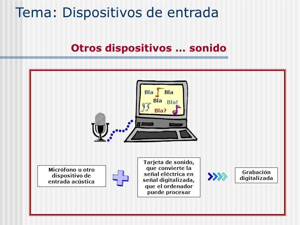 Tema: Dispositivos de entrada