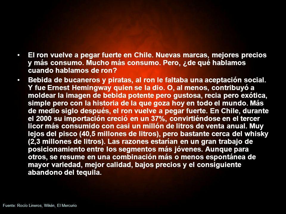 El ron vuelve a pegar fuerte en Chile