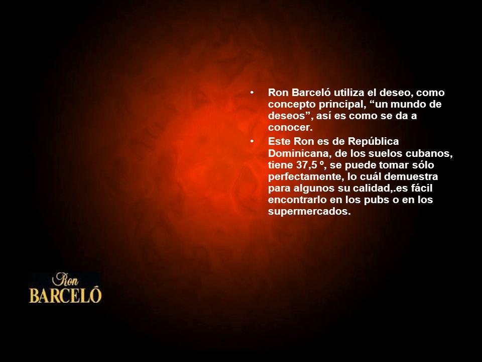 Ron Barceló utiliza el deseo, como concepto principal, un mundo de deseos , así es como se da a conocer.