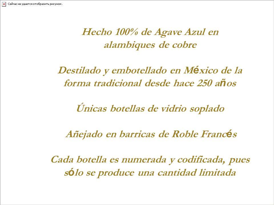 Destilado y embotellado en México de la
