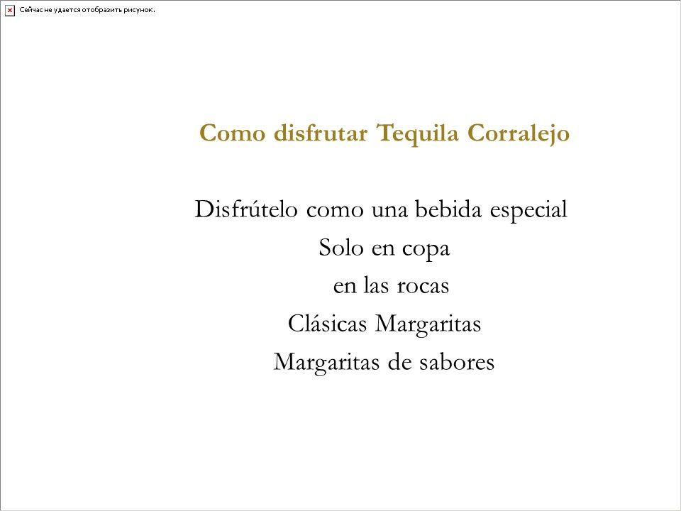 Como disfrutar Tequila Corralejo Disfrútelo como una bebida especial