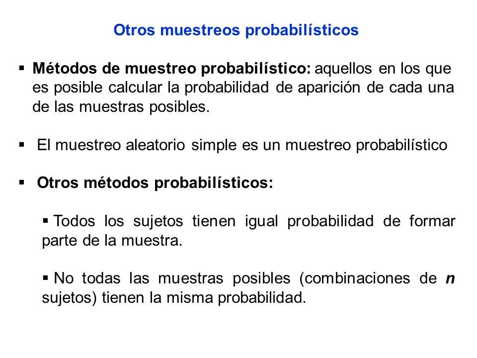 Otros muestreos probabilísticos