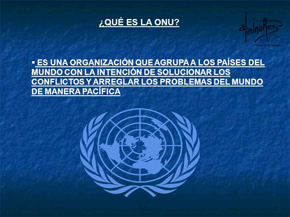 ¿QUÉ ES LA ONU