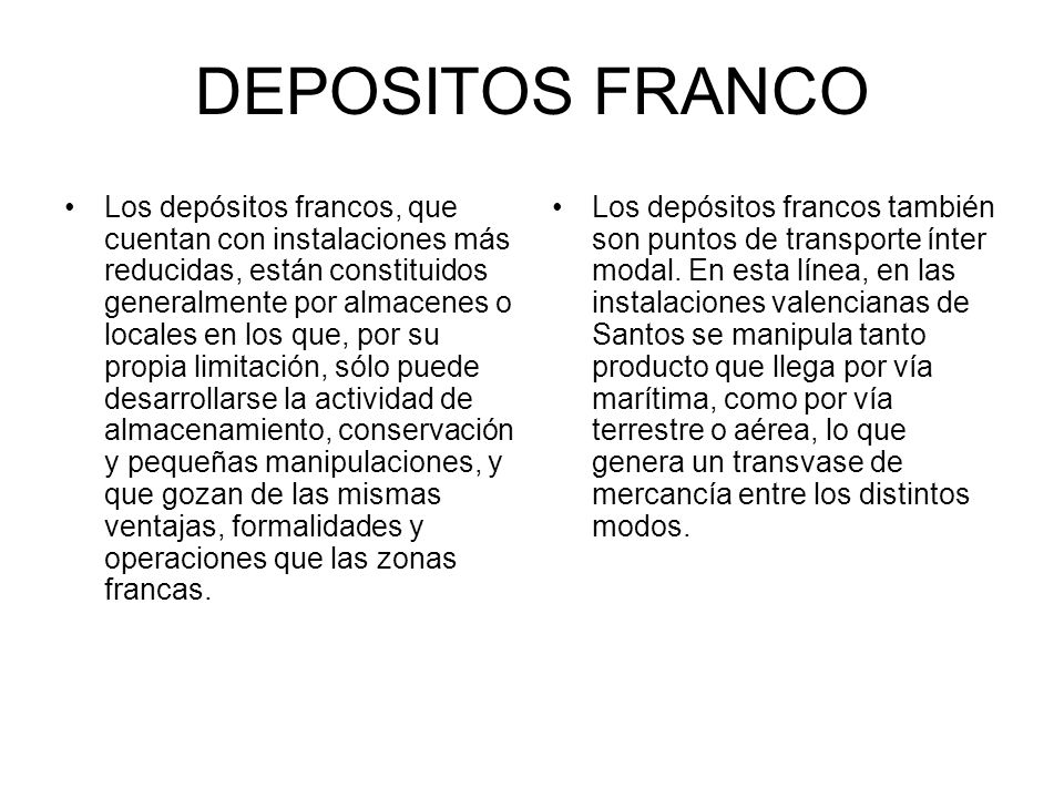 DEPOSITOS FRANCO