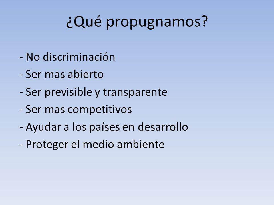 ¿Qué propugnamos - No discriminación - Ser mas abierto