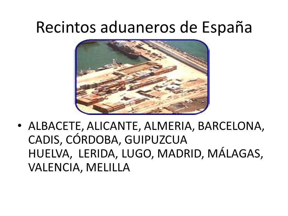 Recintos aduaneros de España