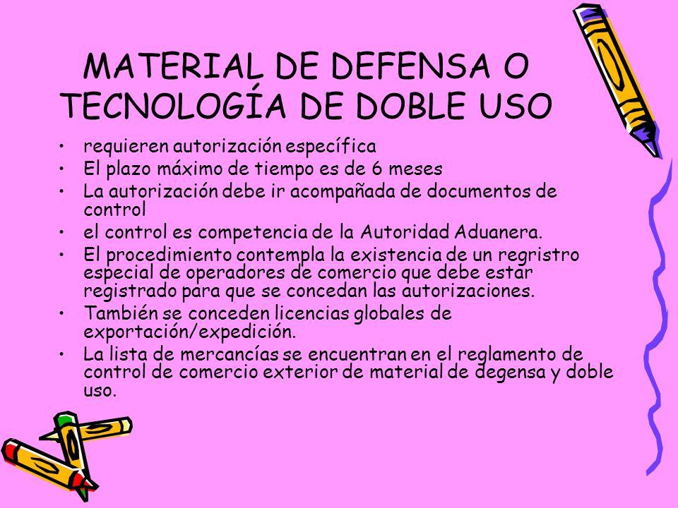 MATERIAL DE DEFENSA O TECNOLOGÍA DE DOBLE USO