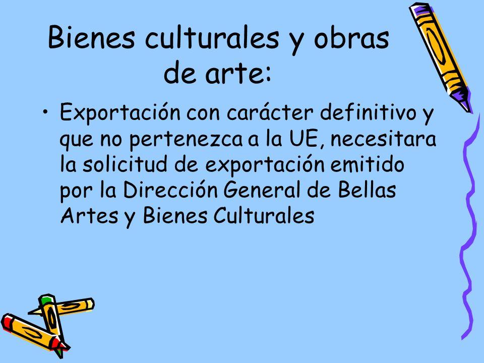 Bienes culturales y obras de arte:
