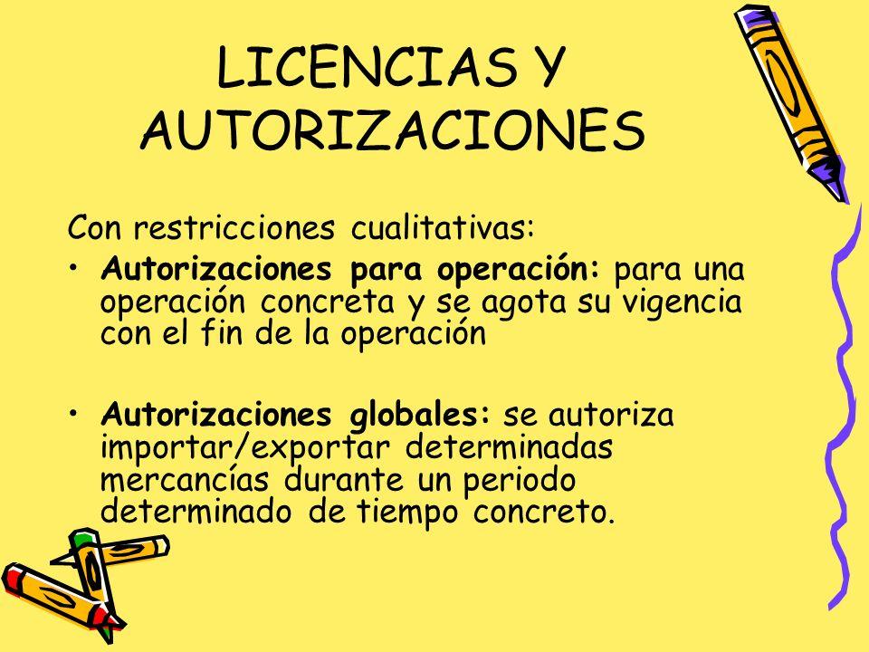 LICENCIAS Y AUTORIZACIONES