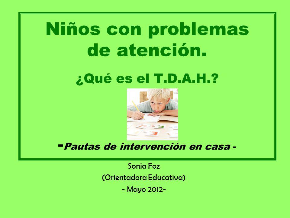 Sonia Foz (Orientadora Educativa) - Mayo 2012-