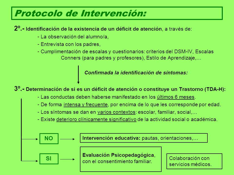 Protocolo de Intervención: