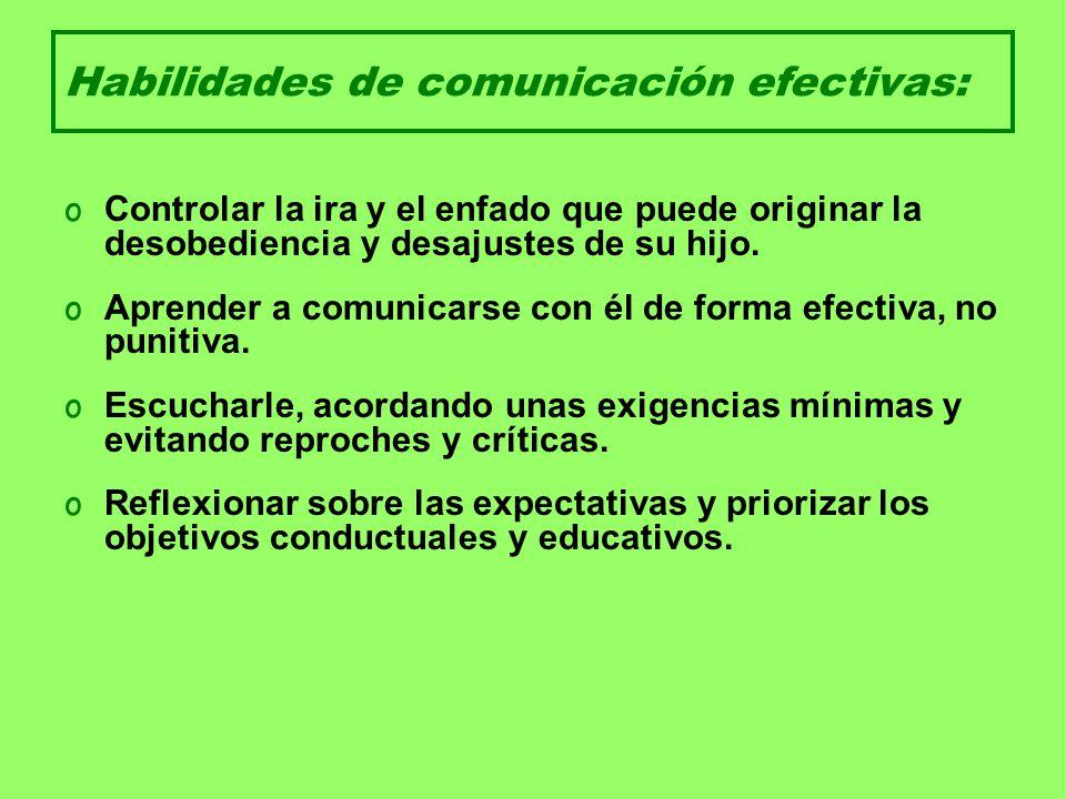 Habilidades de comunicación efectivas: