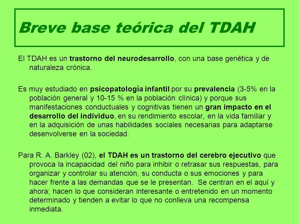 Breve base teórica del TDAH