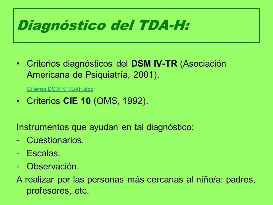 Diagnóstico del TDA-H: