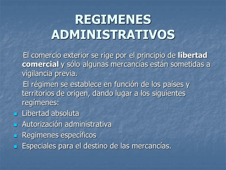 REGIMENES ADMINISTRATIVOS