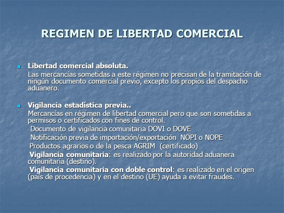 REGIMEN DE LIBERTAD COMERCIAL