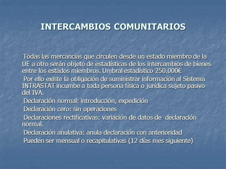 INTERCAMBIOS COMUNITARIOS