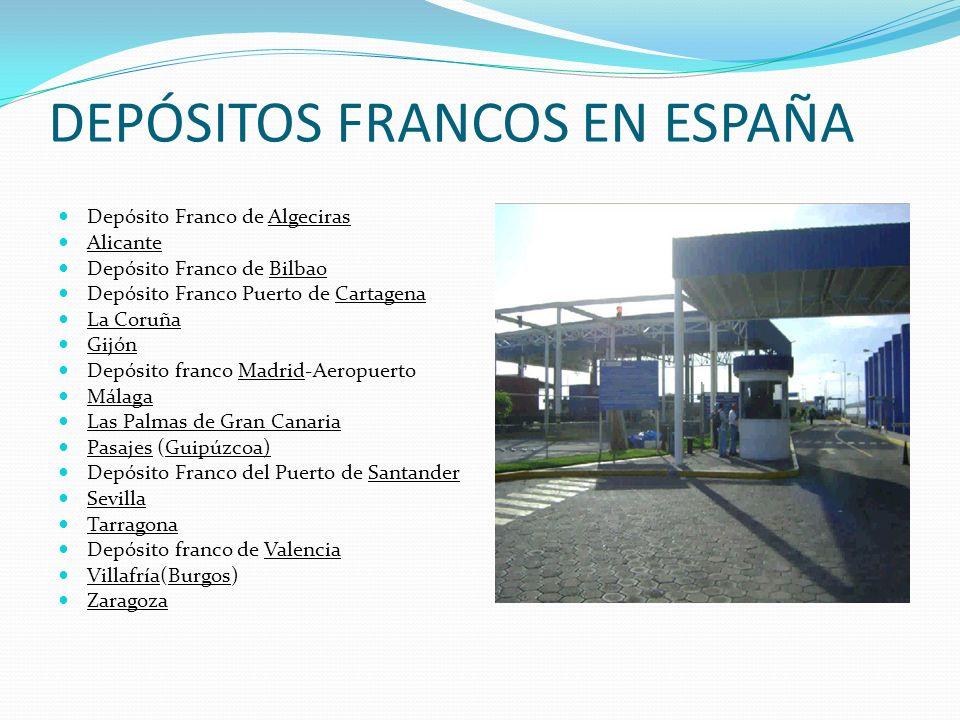 DEPÓSITOS FRANCOS EN ESPAÑA