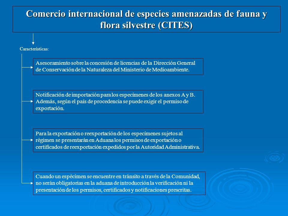 Comercio internacional de especies amenazadas de fauna y flora silvestre (CITES)