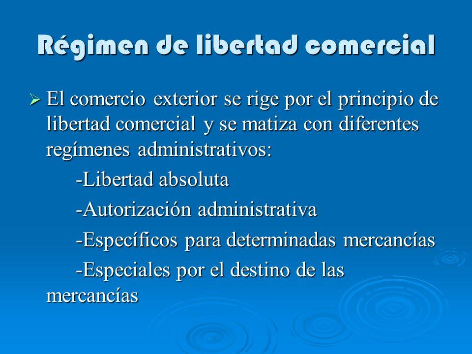 Régimen de libertad comercial