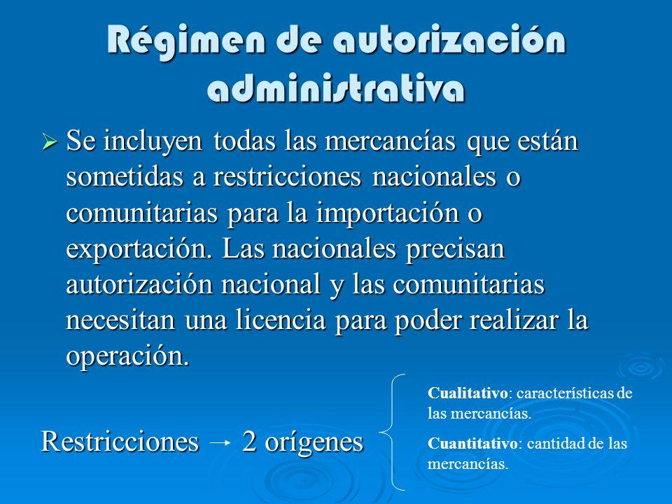 Régimen de autorización administrativa