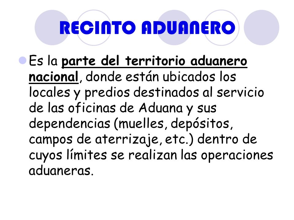 RECINTO ADUANERO