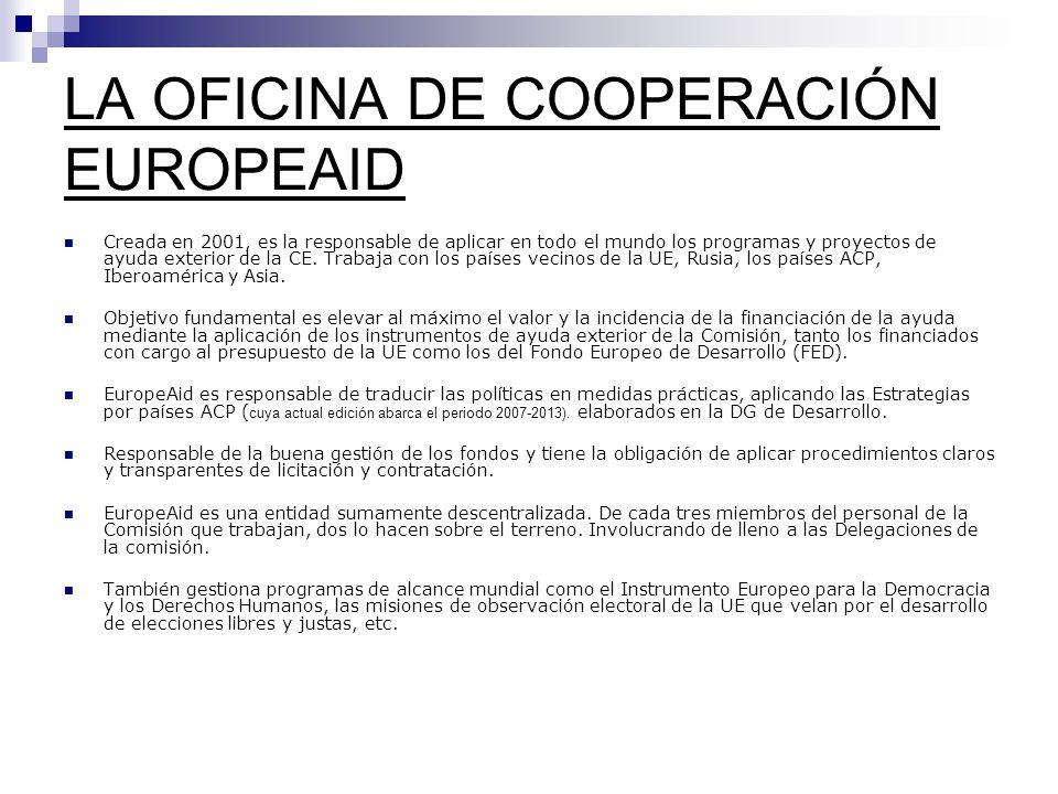 LA OFICINA DE COOPERACIÓN EUROPEAID