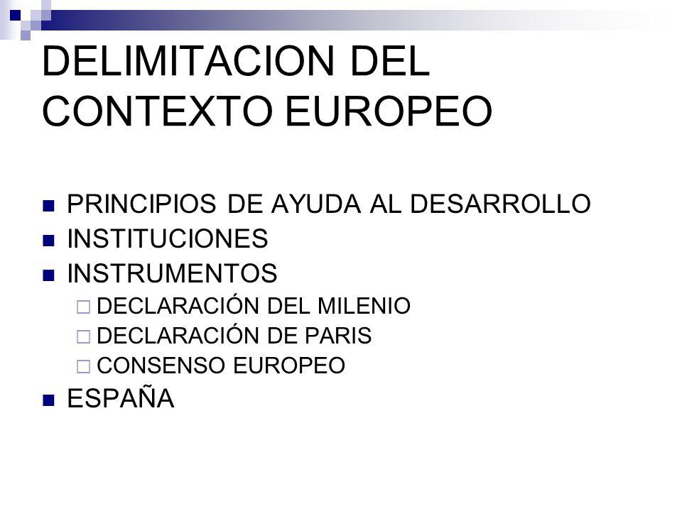 DELIMITACION DEL CONTEXTO EUROPEO