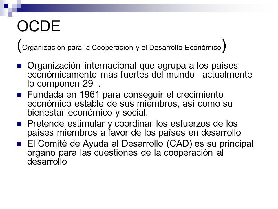 OCDE (Organización para la Cooperación y el Desarrollo Económico)
