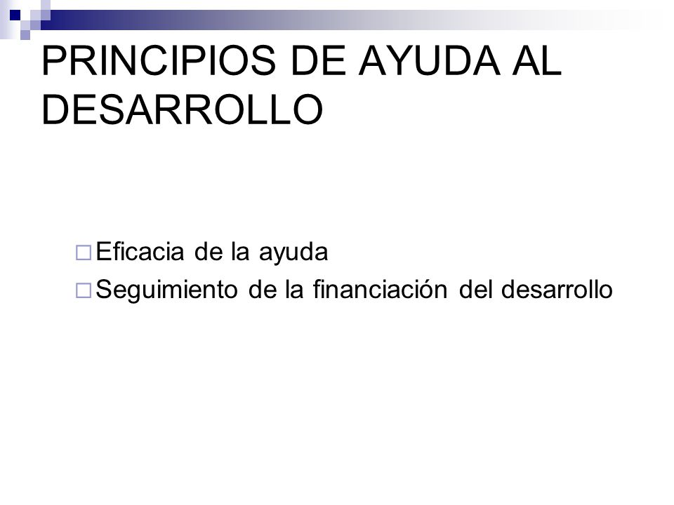 PRINCIPIOS DE AYUDA AL DESARROLLO