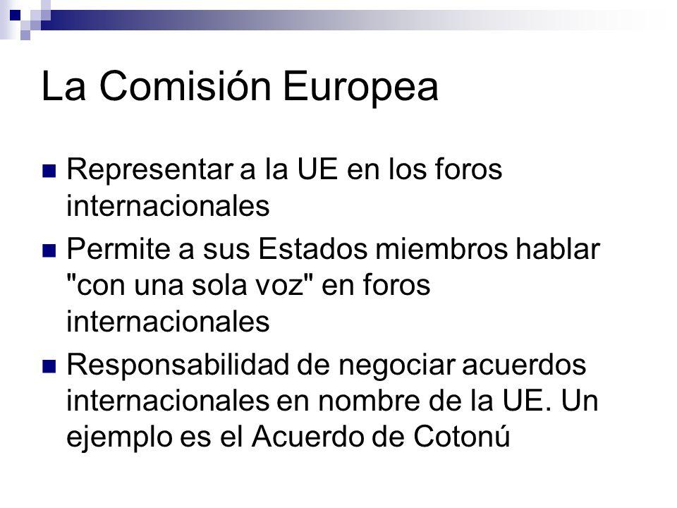 La Comisión Europea Representar a la UE en los foros internacionales