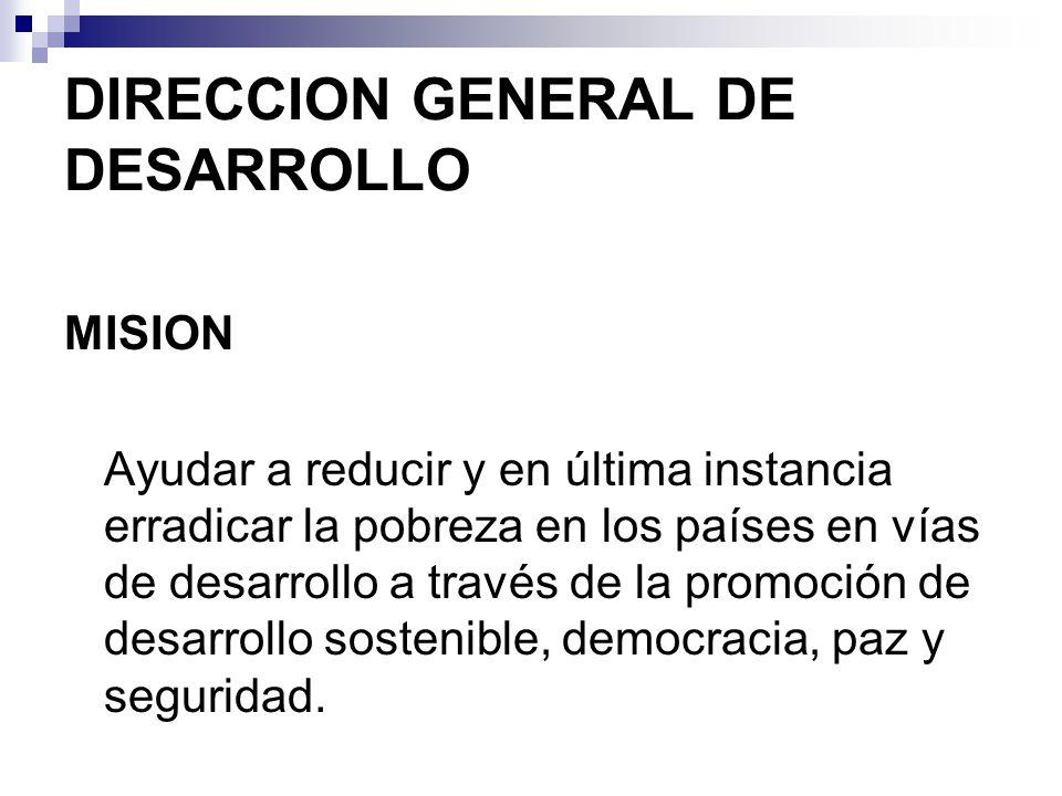 DIRECCION GENERAL DE DESARROLLO